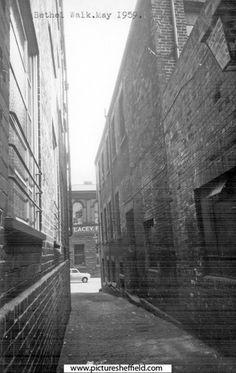 Bethel Walk looking towards Cambridge Street Cambridge Street, My Family History, Sheffield, Black History, Yorkshire, Den, Past, Memories, Steel