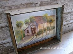 Chipping with Charm: Drawer to Art Frame...www.chippingwithcharm.blogspot.com