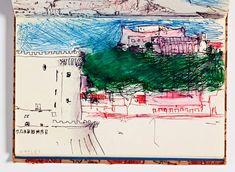 Inside Richard Diebenkorn's Revelatory Sketchbooks Artist Journal, Richard Diebenkorn, Ink Wash, Learn Art, Sketchbook Inspiration, Mark Making, Abstract Expressionism, Sketchbooks, Drawings