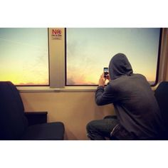Taking a photo on BART