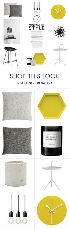 """MINIMALIST STYLE"" by canvas-moods ❤ liked on Polyvore featuring interior, interiors, interior design, home, home decor, interior decorating, Mourne Textiles, Liberty, Byredo and Workshop"