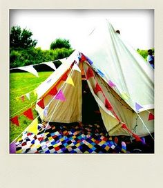 Rainbow bunting not only adds style to your tent, it also attracts your spirit animal to your campsite.