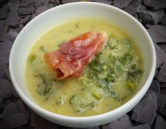 Leek, potato and kale soup with Prosciutto - CookTogether
