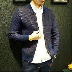 Free Shipping Slim Sweater Jacket For Men 2017 New Autumn Teenage Boy Cardigan Outerwear Male Clothing Zipper Fashion