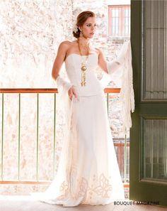 Vestido de novia con adecuaciones folclóricas de la Pollera panameña. #Moda #Fashion #Panamá
