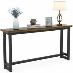 Half Moon Console Table, Skinny Console Table, Ikea Lack Coffee Table, Lack Table, Ikea White Side Table, Long Sofa Table, Industrial Console Tables, Lane Furniture, Table Shelves