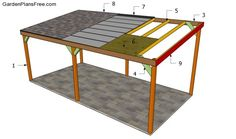 Building a wooden carport