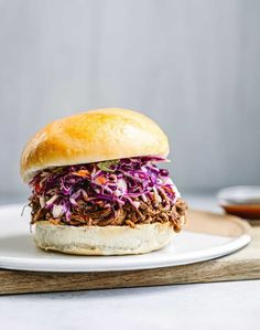 Learn how to cook brisket in an Instant pot! This Instant Pot Brisket is perfect for sliders, tacos, nachos or rice! Tastes amazin on a bun and coleslaw! Homemade Coleslaw, Homemade Sauce, Brisket Sandwich, Bbq Sandwich, Sandwiches, Best Sandwich Recipes, How To Cook Brisket, Pulled Beef, Cooking Spoon