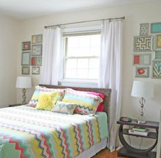 s save those torn curtains for these 11 brilliant ideas, home decor, window treatments, Frame them into a fabric gallery wall