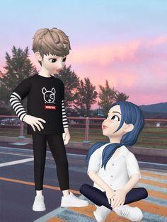 Cute Couple Art, Cute Couples, Cute Love Cartoons, Jungkook Fanart, Couple Cartoon, Couple Drawings, Cartoon Art, Picasso, My Images