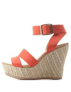 28ea507c95dd Ankle Strap Espadrille Wedge Sandals  Charlotte Russe  heels  wedges  Charlotte Russe Heels