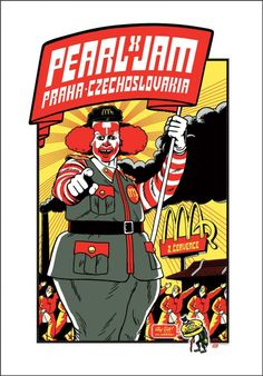 Tonight's Pearl Jam poster from Prague, Czech Republic by Ames Bros and Ward Sutton Tour Posters, Band Posters, Event Posters, Metallica Concert, Pearl Jam Posters, Pearl Jam Eddie Vedder, Skateboard Design, Ad Art, Concert Posters