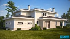 This urban house has 4 bedrooms. The house is situated in Bankia, Bulgaria. The gross floor area of the house is 411 sq. It is designed by architectural studio ISP Digital Design. Facade House, Construction, My House, House Plans, Mansions, Architecture, House Styles, Champs, Gallery