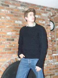 Ravelry: Mystery Sweater pattern by Christiane Burkhard, knit in the round, and top down, so no sewing in sleeves, yay