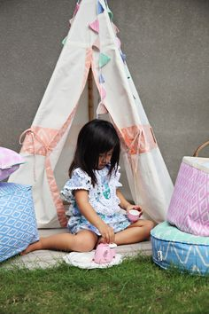 Hours of fun with our pint size home decor items including Tipi tents, poufs, fabric storage baskets, playmats and buntings. Fabric Storage Baskets, Batik Prints, Buntings, Poufs, Plush Animals, Home Decor Items, Tents, Shades Of Blue, Pink Grey