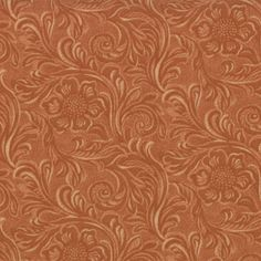 SALE!!  1/2 Yard - King of the Ranch - Tooled Leather Tan by Sara Khammash for Moda Fabrics. by lavendarquilts on Etsy