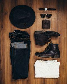 Denim + Boots + Basic Knit
