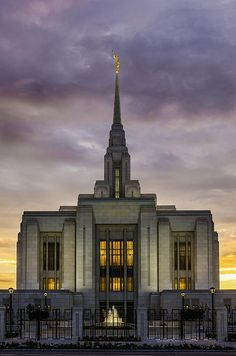 Here is a vertical view of the Ogden, LDS, Temple for The Church of Jesus Christ of Latter-day Saints before it's newly remodeled dedication, which is coming soon.