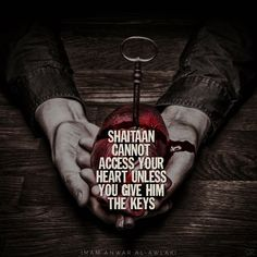"""""""Shaitaan cannot access your heart unless you give him the keys."""" Anwar al-Awlaki #heart #keys #Allah #Allahuakbar #Alhamdulillah #islam #islamic #instaislam #inshallah #muslim #muslimah #quran #pray #prayer #salah #sunnah #deen #dawah #faith #god #hijab #hijabi #halal #hadith #jannah #silentrepenter #silent_repenter #sr"""