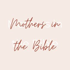 There are Bible studies for moms and other devotionals for moms. There's Bible verses about moms and Christian parenting quotes. But what better way to see how to navigate biblical motherhood than to look at examples of mothers in the Bible? Ruth, Mary, Elizabeth, Jochebed, Hannah, and Sarah are all important mothers in the Bible. They each have significant aspects that their stories can teach us about being a Christian mom. Hannah Bible, Bible Verses About Mothers, Mary Elizabeth, Christian Parenting, Righteousness, Bible Stories, Parenting Quotes, Best Mom, Heavenly