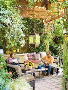 gartenlaube pergola begrünen wickeln weinreben   gartenideen, Garten und Bauen