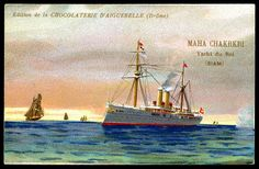 "https://flic.kr/p/9krjQP | French Tradecard - Siamses Royal Yacht ""Maha Chakrkri"" 