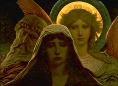 The Sorrowing Soul Between Doubt and Faith, 1884, Elihu Vedder