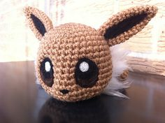 baby eevee crochet pattern (she has all of the eeveelutions as well)