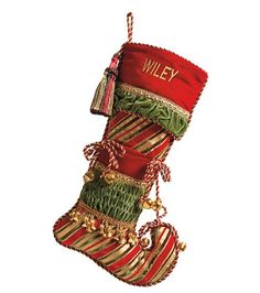 Christmas Joy Green Toe Stocking | Christmas Decor | Pinterest ...