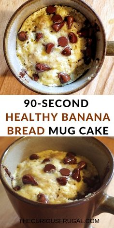This is a must-try healthy snack! A super easy microwave mug cake that's so delicious and gluten-free too! snacks for work Healthy single serving banana bread (microwave banana bread!) - The Curious Frugal Microwave Banana Bread, Banana Bread Mug, Gluten Free Banana Bread, Healthy Banana Bread, Gluten Free Mug Cake, Low Calorie Banana Bread, Paleo Mug Cake, Microwave Breakfast, Mug Cake Microwave