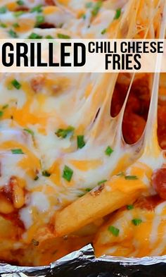 Grilled Chili Cheese Fries