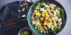 Valmista tämä Härkäpapurouhesalaatti härkiksellä niin saat taatusti ruokaisan kasvissalaatin.