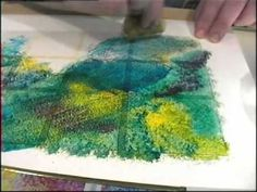Glass Painting: Sponging and Stippling - YouTube