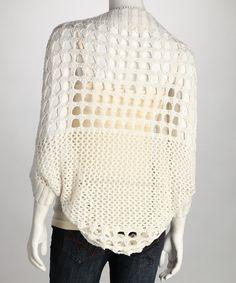 Ivory Crochet Shrug
