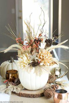 DIY Pumpkin Vase - A Pumpkin And A Princess