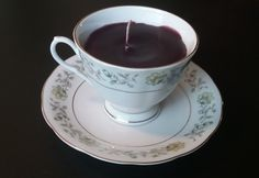 Handcrafted Hand Poured Mixed Berry Teacup Candle by ThriftyNiki
