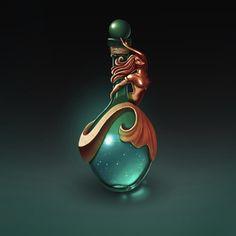 ArtStation - Potion Bottles, Aishwarya Chandramohan Magic Bottles, Potion Bottle, Bottle Art, Weapon Concept Art, Magic Art, Fantasy Weapons, Fantasy Inspiration, Game Art, Wands