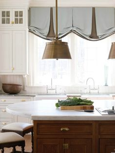 The World of Window Treatments - love these for kitchen!