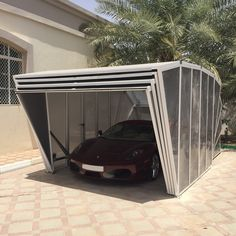 #middleeastversion #whiteversion #sunnycountries #gazebox more info at www.gazebox.it Modern Gazebo, Portable Garage, Carport Garage, Outdoor Furniture, Outdoor Decor, Innovation, Home Appliances, Cover, Gadgets