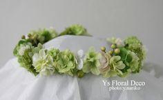 hk00191 緑の花冠 アーティフィシャルフラワー @バリ島 ys floral deco