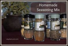 Homemade Seasoning Mix: Homemade seasoning mix recipes helping you cook up savory, juicy, chicken – or beef – or fish – or any other meat. Impress your family with these great flavors.