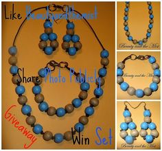 Beauty and the Mist - everything about beauty: Wooden Jewellery Set Giveaway