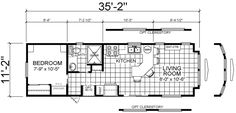 12x36 tiny house floor plan | We both wanted a big kitchen & the bathroom to be in-front of the ...