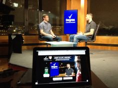 February 6, 2014 - Bicontinental production: Producer Andrew Krause live from London with soccer superstars Clint Dempsey and Brian McBride.