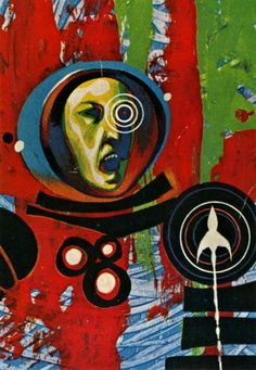 JACK GAUGHAN - art for The Wrecks of Time by Michael Moorcock - 1967 Ace Doubles paperback H36