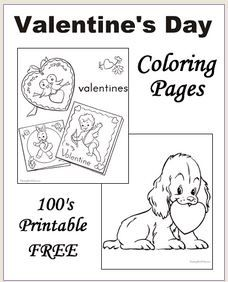 Free Printable Valentines Day Coloring Pictures Are Fun For Kids Crafts Hearts Cards And Cupid Sheets Pages