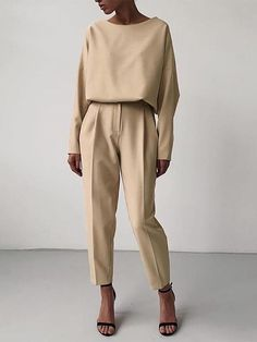 Beige Outfit, Monochrome Outfit, Minimal Outfit, Minimal Fashion, Minimal Style, Minimal Clothing, Outfits Casual, Mode Outfits, Classy Outfits