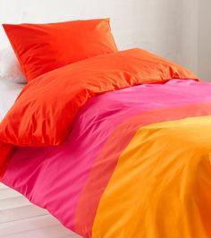 Hennika-pussilakanasetti, kelta-oranssi-pinkki