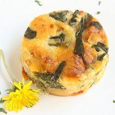 dandelion bread pudding.