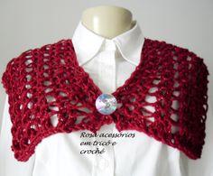 Knitting cowl red - gola tricô  by www.rosaacessorios.blogspot.com